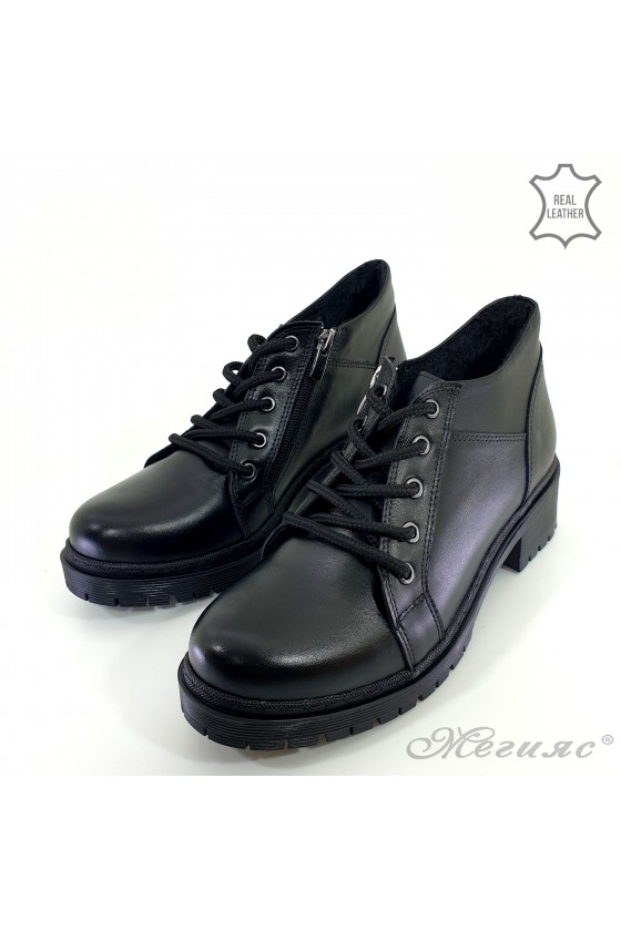 Lady boots black leather 800-k