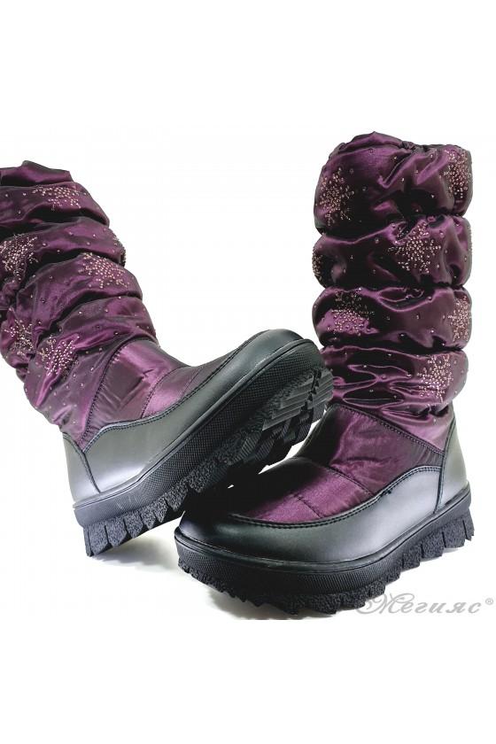 19-1321 Women boots purple