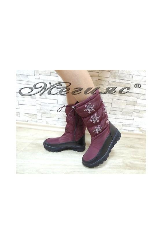 19-1315 Women boots wine